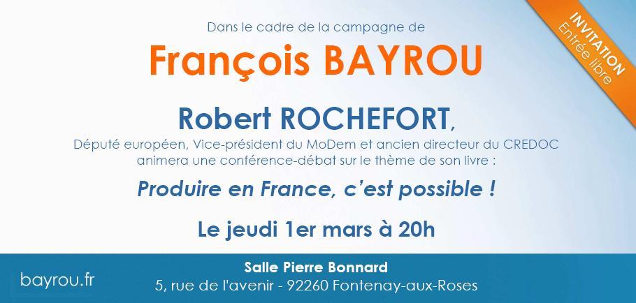 ROCHEFORT - Invitation 1er mars 2012